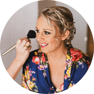 wedding makeup and hair styling