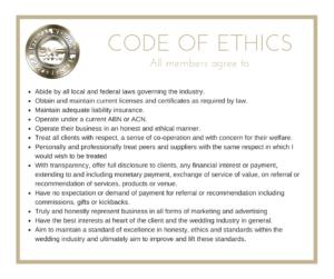 Ethical Wedding Professionals - Code Of Ethics